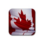 canadian-flag Rubber Square Coaster (4 pack)