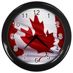 canadian-flag Wall Clock (Black)