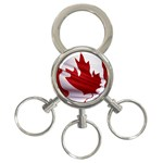 canadian-flag 3-Ring Key Chain