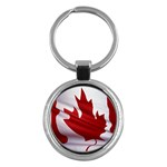 canadian-flag Key Chain (Round)