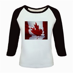 canadian-flag Kids Baseball Jersey by marinasartshop