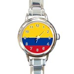 Flag_of_Colombia Round Italian Charm Watch