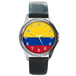 Flag_of_Colombia Round Metal Watch