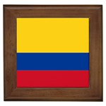 Flag_of_Colombia Framed Tile