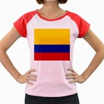 Flag_of_Colombia Women s Cap Sleeve T-Shirt