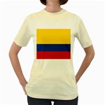 Flag_of_Colombia Women s Yellow T-Shirt
