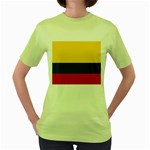 Flag_of_Colombia Women s Green T-Shirt