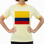 Flag_of_Colombia Women s Fitted Ringer T-Shirt