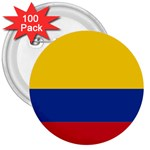Flag_of_Colombia 3  Button (100 pack)