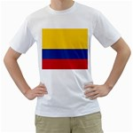 Flag_of_Colombia White T-Shirt