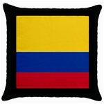 Flag_of_Colombia Throw Pillow Case (Black)