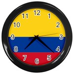 Flag_of_Colombia Wall Clock (Black)