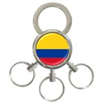 Flag_of_Colombia 3-Ring Key Chain