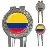 Flag_of_Colombia 3-in-1 Golf Divot