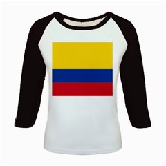 Flag_of_Colombia Kids Baseball Jersey by marinasartshop