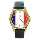 FR Round Gold Metal Watch