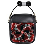 Abstract Crossdots Art Girls Sling Bag