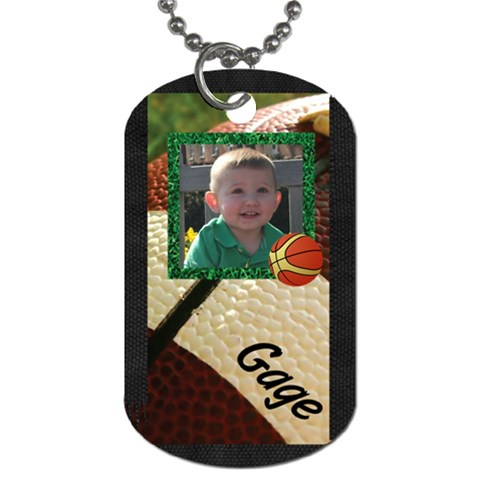 Gagedogtag2 By Christy Fralin   Dog Tag (one Side)   T4jpvc8gv5uf   Www Artscow Com Front