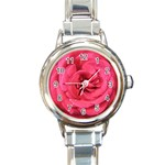 Rose-slideshow-112x131 Round Italian Charm Watch