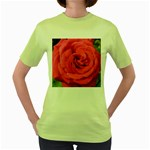 Rose-slideshow-112x131 Women s Green T-Shirt