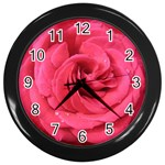 Rose-slideshow-112x131 Wall Clock (Black)