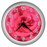 Rose-slideshow-112x131 Wall Clock (Silver)
