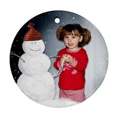 Melmo Ornament By Lily Hamilton   Round Ornament (two Sides)   I3y6xr54ag41   Www Artscow Com Front