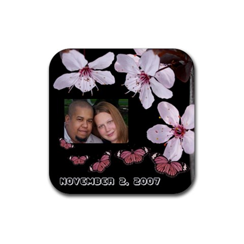 Engagement Coaster By Christine Castro   Rubber Coaster (square)   I75ahjx11wxu   Www Artscow Com Front