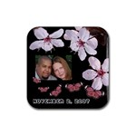 Engagement Coaster - Rubber Coaster (Square)