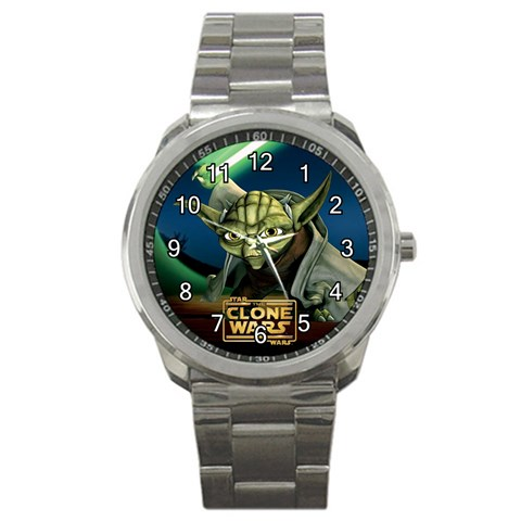 Yoda Watch By Nikole   Sport Metal Watch   Im8fix8a3brd   Www Artscow Com Front