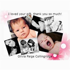 Olivia s Thank You Cards By Dallas Collingridge   5  X 7  Photo Cards   Kjakovvuemr1   Www Artscow Com 7 x5 Photo Card - 1