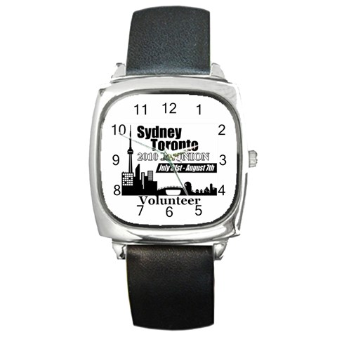 Watch For Sydney Toronto Reunion  By Chantel Reid Demeter   Square Metal Watch   Tya6mxawd1iw   Www Artscow Com Front