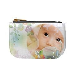 Flower Baby By Wood Johnson   Mini Coin Purse   N53jh5t90jo5   Www Artscow Com Front