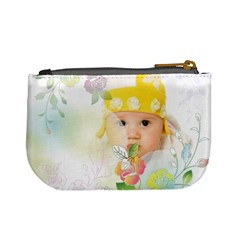 Flower Baby By Wood Johnson   Mini Coin Purse   N53jh5t90jo5   Www Artscow Com Back