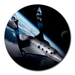 SpaceShip.jpg space travel Round Mousepad