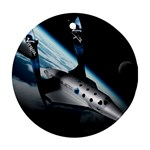 SpaceShip.jpg space travel Ornament (Round)