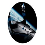 SpaceShip.jpg space travel Ornament (Oval)