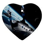 SpaceShip.jpg space travel Ornament (Heart)