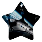 SpaceShip.jpg space travel Ornament (Star)