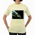 SpaceShip.jpg space travel Women s Yellow T-Shirt