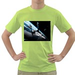 SpaceShip.jpg space travel Green T-Shirt