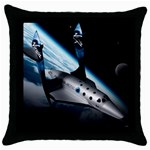 SpaceShip.jpg space travel Throw Pillow Case (Black)