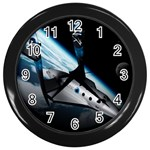 SpaceShip.jpg space travel Wall Clock (Black)