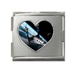 SpaceShip.jpg space travel Mega Link Heart Italian Charm (18mm)