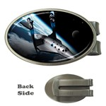 SpaceShip.jpg space travel Money Clip (Oval)