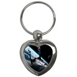 SpaceShip.jpg space travel Key Chain (Heart)