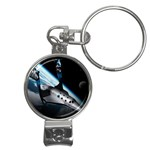 SpaceShip.jpg space travel Nail Clippers Key Chain