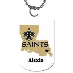 Alexis Lsu Saints By Kenneth   Dog Tag (two Sides)   R9jzkk8q62sn   Www Artscow Com Front