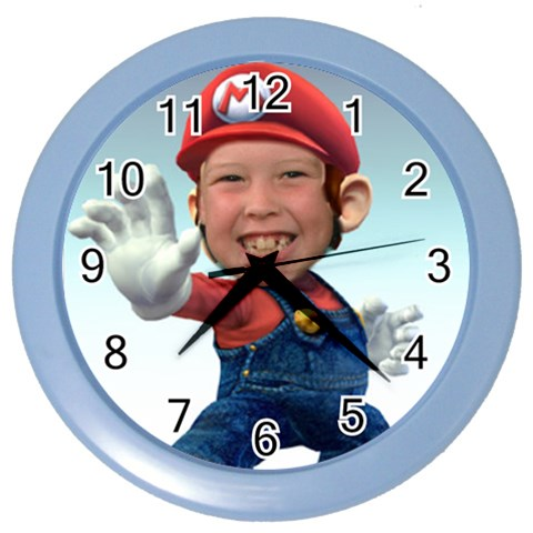 Zack Clock By Pat   Color Wall Clock   Begj4or62ouy   Www Artscow Com Front
