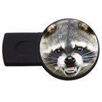 raccoon (2) USB Flash Drive Round (4 GB)
